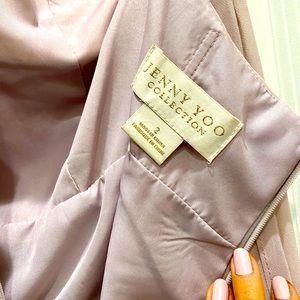 Jenny Yoo Brett bridesmaids dress in Woodrose
